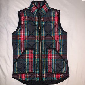 J. Crew Women's Quilted Vest Puffer Plaid